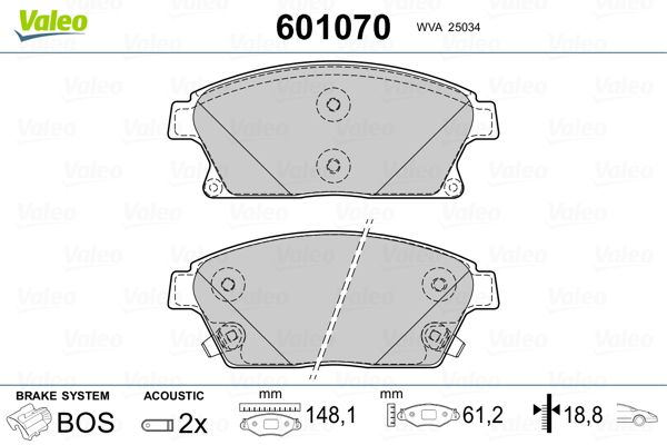 Bremsbelagsatz VALEO 601070 Bewertung