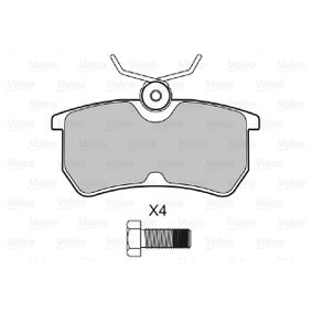 Brake Pad Set, disc brake Width: 87,1mm, Height: 42,4mm, Thickness: 15mm with OEM Number 1107698