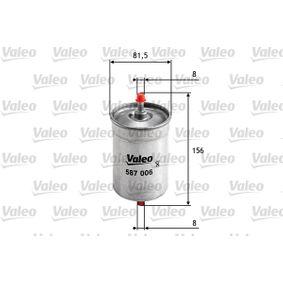 VALEO Kraftstofffilter 587006 für AUDI A6 (4B2, C5) 2.4 ab Baujahr 07.1998, 136 PS