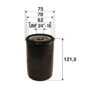 Ölfilter Ø: 75mm, Innendurchmesser 2: 70mm, Innendurchmesser 2: 62mm, Höhe: 121,5mm mit OEM-Nummer 5650314