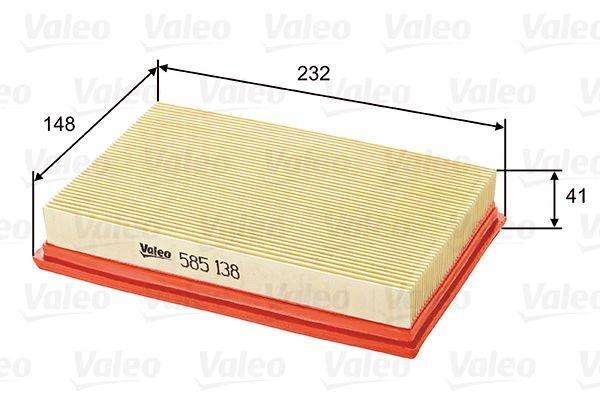Légszűrő 585138 VALEO 585138 eredeti minőségű