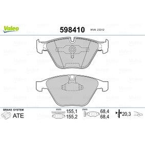 Bremsbelagsatz, Scheibenbremse Breite: 155,2mm, Höhe: 68,3mm, Dicke/Stärke: 20,3mm mit OEM-Nummer 34 11 6 794 916