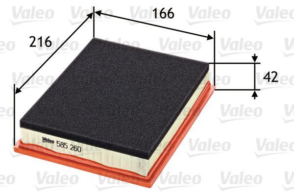 Luftfilter 585260 VALEO 585260 af original kvalitet