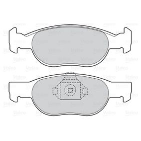 Brake Pad Set, disc brake 598605 PUNTO (188) 1.2 16V 80 MY 2002