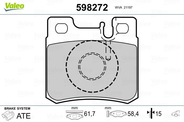 Bremsbelagsatz VALEO 598272 Bewertung