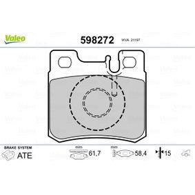 Bremsbelagsatz, Scheibenbremse Breite: 61,7mm, Höhe: 58,4mm, Dicke/Stärke: 15mm mit OEM-Nummer 0014209520