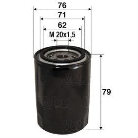 Ölfilter Ø: 76mm, Innendurchmesser 2: 71mm, Innendurchmesser 2: 62mm, Höhe: 79mm mit OEM-Nummer 104.2175.116