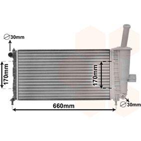 Radiator, engine cooling 17002208 PUNTO (188) 1.2 16V 80 MY 2006