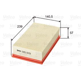 Luftfilter Länge: 239mm, Breite: 141mm, Höhe: 57mm, Länge: 239mm mit OEM-Nummer 2232 400QAB