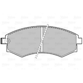 Bremsbelagsatz, Scheibenbremse Breite: 136,9mm, Höhe: 53,4mm, Dicke/Stärke: 17,5mm mit OEM-Nummer 58101 38A00