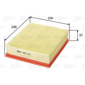 Luftfilter Länge: 246mm, Breite: 206mm, Höhe: 57mm mit OEM-Nummer LR027408