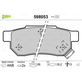 Комплект спирачно феродо, дискови спирачки ширина 1: 89мм, височина 1: 35,2мм, дебелина 1: 13мм с ОЕМ-номер GBP90316AF