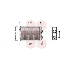 VAN WEZEL  06006210 Wärmetauscher, Innenraumheizung Kunststoff, Aluminium