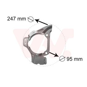 Splash Panel, brake disc 1754372 PUNTO (188) 1.2 16V 80 MY 2000