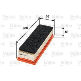 Luftfilter Länge: 280mm, Breite: 97mm, Höhe: 61mm, Länge: 280mm mit OEM-Nummer 55 192 012