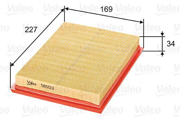 Filtro de Aire 585122 VALEO 585122 en calidad original