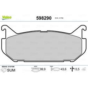 Bremsbelagsatz, Scheibenbremse Breite: 99,9mm, Höhe: 44mm, Dicke/Stärke: 13,5mm mit OEM-Nummer G5Y5-26-43Z