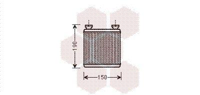 VAN WEZEL  29006014 Wärmetauscher, Innenraumheizung Kunststoff, Aluminium