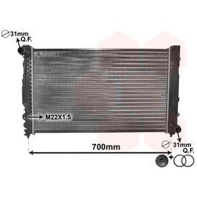 VAN WEZEL Kühler, Motorkühlung 03002124 für AUDI A6 (4B2, C5) 2.4 ab Baujahr 07.1998, 136 PS