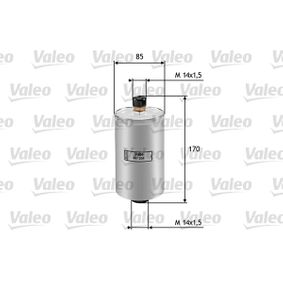 VALEO Kraftstofffilter 587204 für AUDI 90 (89, 89Q, 8A, B3) 2.2 E quattro ab Baujahr 04.1987, 136 PS