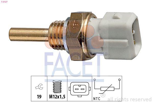 FACET  7.3127 Sensore, Temperatura refrigerante Apert. chiave: 19