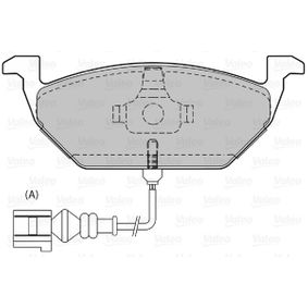 Bremsbelagsatz, Scheibenbremse Breite: 146,1mm, Höhe: 54,8mm, Dicke/Stärke: 19,5mm mit OEM-Nummer 1J0698151G
