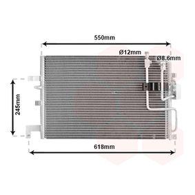 VAN WEZEL  47005048 Kondensator, Klimaanlage Netzmaße: 515x348x16