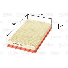 Luftfilter Länge: 303mm, Breite: 174mm, Höhe: 42mm, Länge: 303mm mit OEM-Nummer 2232 400 QAB
