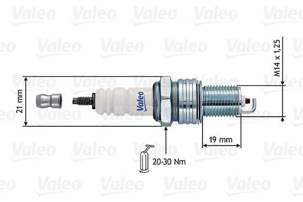 Zündkerzen 246914 VALEO RL11HC1 in Original Qualität
