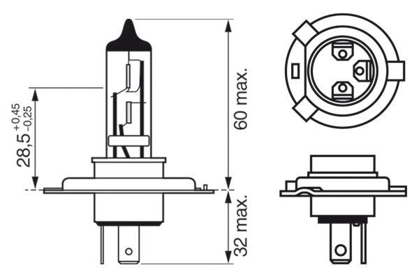 Article № 12V6055WH4XENONBLUE BOSCH prices