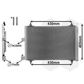 Kondensator, Klimaanlage Netzmaße: 520x362x16 mit OEM-Nummer 6455 Y9