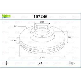 Bremsscheibe Bremsscheibendicke: 25mm, Felge: 9-loch, Ø: 312mm mit OEM-Nummer 8L0.615.301