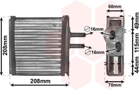 VAN WEZEL  17006150 Wärmetauscher, Innenraumheizung Kunststoff, Aluminium