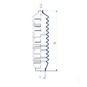 Bellow, steering Inner Diameter 2: 10mm, Inner Diameter 2: 36mm with OEM Number 6127744