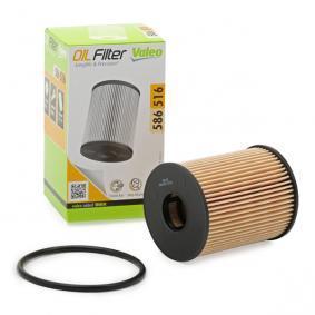 Filtro olio (586516) per per Filtro Olio FIAT GRANDE PUNTO (199) 1.3 D Multijet dal Anno 10.2005 75 CV di VALEO