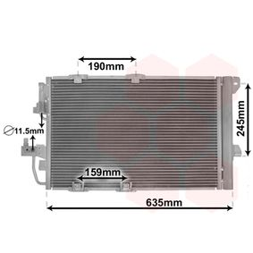 Kondensator, Klimaanlage mit OEM-Nummer 24431901