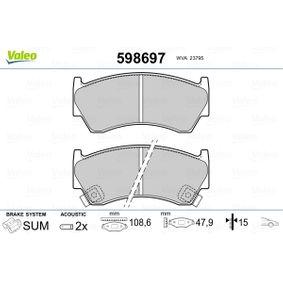 Regulador de Presión de Combustible SUZUKI BALENO Fastback (EG) 1.6 i 16V 4x4 de Año 07.1995 98 CV: Juego de pastillas de freno (598697) para de VALEO