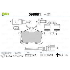 Bremsbelagsatz, Scheibenbremse Breite: 87mm, Höhe: 52,8mm, Dicke/Stärke: 17,2mm mit OEM-Nummer 1 343 513