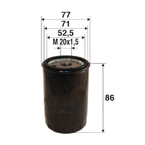 Filtro de óleo Ø: 77mm, Diâmetro interior 2: 71mm, Diâmetro interior 2: 52,5mm, Altura: 86mm com códigos OEM 1109R1