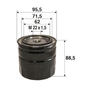 Ölfilter Ø: 95,5mm, Innendurchmesser 2: 71,5mm, Innendurchmesser 2: 62mm, Höhe: 88,5mm mit OEM-Nummer 5116166