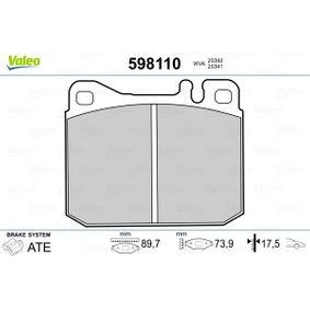 Bremsbelagsatz, Scheibenbremse Breite: 90mm, Höhe: 73,9mm, Dicke/Stärke: 17,5mm mit OEM-Nummer 001420 99 20