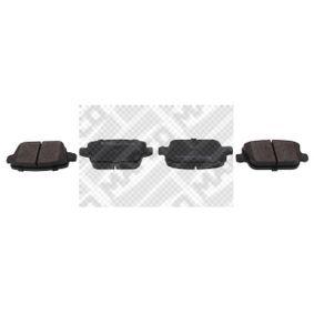 MAPCO  6854 Bremsbelagsatz, Scheibenbremse Höhe: 43,2mm, Dicke/Stärke: 16mm