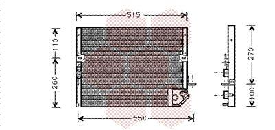 VAN WEZEL  53005118 Kondensator, Klimaanlage