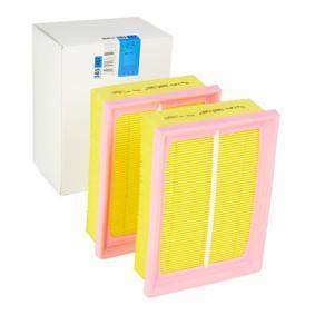 Luftfilter Länge: 186mm, Breite: 139,5mm, Höhe: 50mm mit OEM-Nummer 030 198 620