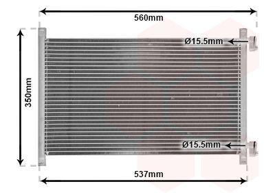 VAN WEZEL  17005214 Kondensator, Klimaanlage