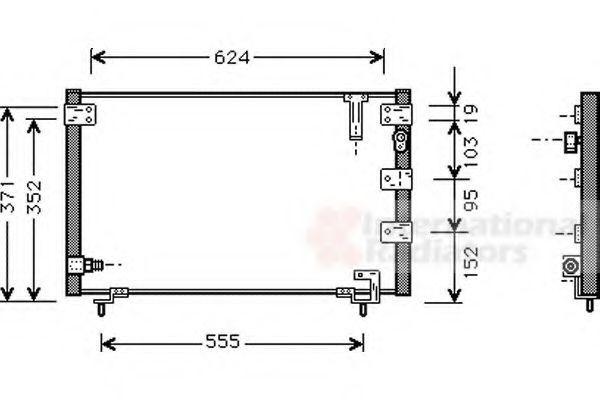 VAN WEZEL  53005262 Kondensator, Klimaanlage Netzmaße: 632 - 367 - 17