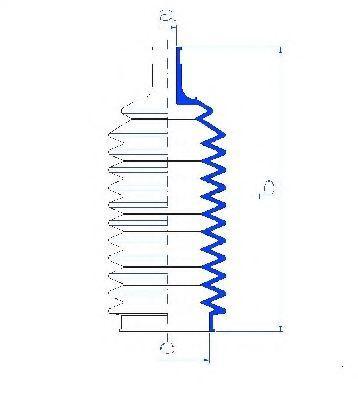 SPIDAN  83513 Bellow, steering Inner Diameter 2: 10mm, Inner Diameter 2: 46mm