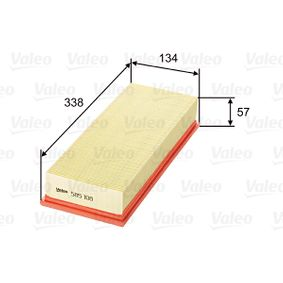 VALEO Luftfilter 585108 für AUDI COUPE (89, 8B) 2.3 quattro ab Baujahr 05.1990, 134 PS