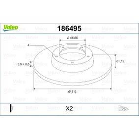 Bremsscheibe Bremsscheibendicke: 9,5mm, Felge: 4-loch, Ø: 213,5mm mit OEM-Nummer 21 A 2612