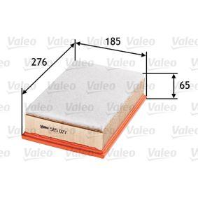 Luftfilter Länge: 276mm, Breite: 185mm, Höhe: 65mm mit OEM-Nummer 1L0129620